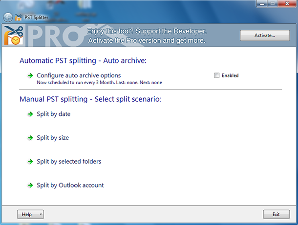 PST Splitter Freeware