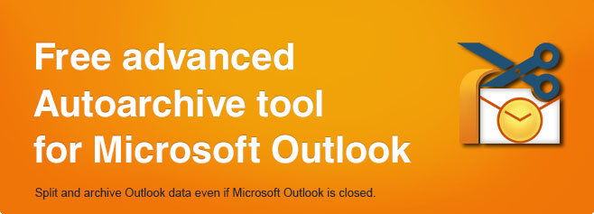 Free advanced AutoArchive tool for Microsoft Outlook